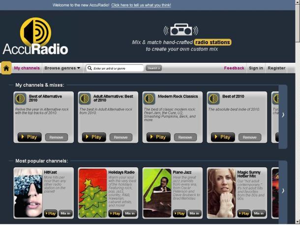 AccuRadio online radio